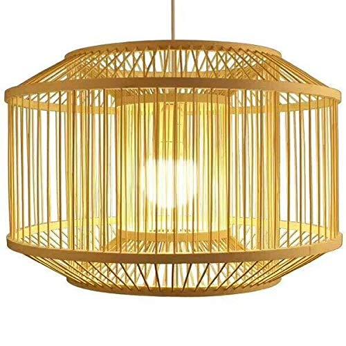 Fine Asianliving Bamboe Hanglamp Plafondlamp Bamboe Lampenkap Handgemaakt Rotan Vintage Stijl Oosters Chinese 224-120