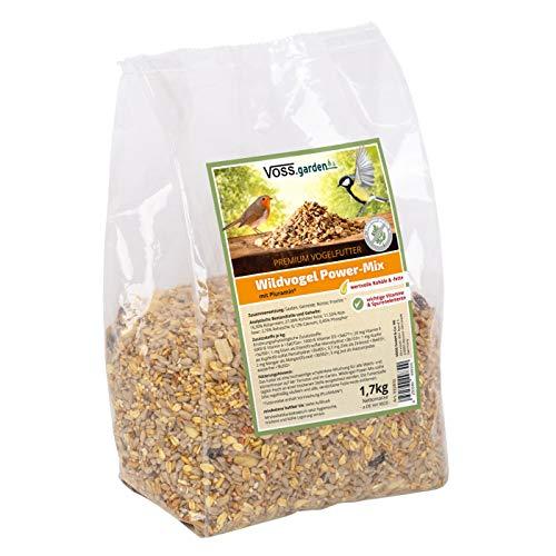 VOSS.garden Wildvogel Power-Mix 1,7kg Premium Vogelfutter Wildvogelfutter für Vogelhaus, Futterstation und als Streufutter