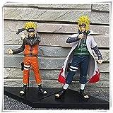 Huhu Anime Naruto Figura de acción Juguetes Shippuden Uzumaki y Minato Namikaze 2 Piezas/Lote Figura...