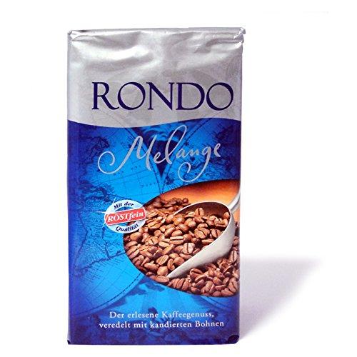 2er Pack Rondo Melange Röstkaffee (2 x 500 g) gemahlen und aromaversiegelt, Kaffeepulver