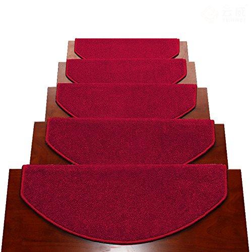 Tappeti scale2 BBYE Extra Spesso Stair Carpet Libero Autoadesive Antiscivolo Solido della Famiglia di Legno Passaggio Pad (Colore : # 5, Dimensioni : 80 * 24cm-B)