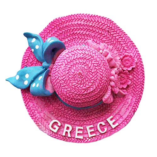 3D Crete Greece Straw Hat Refrigerator Magnet Tourist Souvenirs Stickers,Home & Kitchen Decoration Greece Fridge Magnet From China