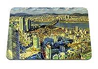 26cmx21cm マウスパッド (上から韓国高層ビル建物ビュー) パターンカスタムの マウスパッド
