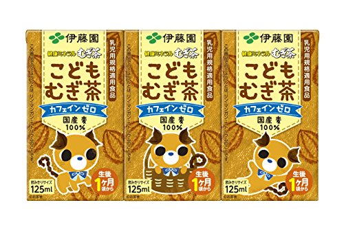 伊藤園 健康ミネラルむぎ茶 こどもむぎ茶 紙パック 125ml×3本×12個