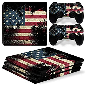 PS4 Pro Whole Body Vinyl Skin Sticker Decal Cover for Playstation 4 Pro System Console and Controllers – The Flag of the United States