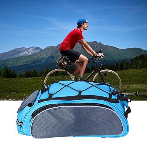 Alomejor Almacenamiento de Bicicletas de montaña Bolsa de sillín de Bicicleta Bolsa de Ciclismo Bolsa de sillín especializada para Bicicleta de montaña de Carretera MTB(Azul grisáceo)
