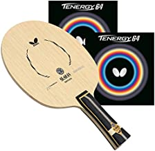 Butterfly Zhang Jike ZLC Pro-Line Table Tennis Racket - FL Blade - Tenergy 64 2.1mm Red and Black Rubbers