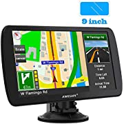 AWESAFE Car GPS 9 inch Touch Screen GPS Navigation for car North America Map Free Update