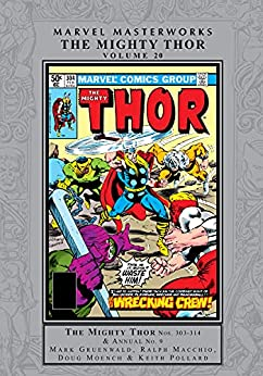 Thor Masterworks Vol. 20 (Thor (1966-1996)) by [Mark Gruenwald, Ralph Macchio, Doug Moench, Chris Claremont, Bill Mantlo, Keith Pollard, Rick Leonardi, Alan Kupperberg, Luke McDonnell]