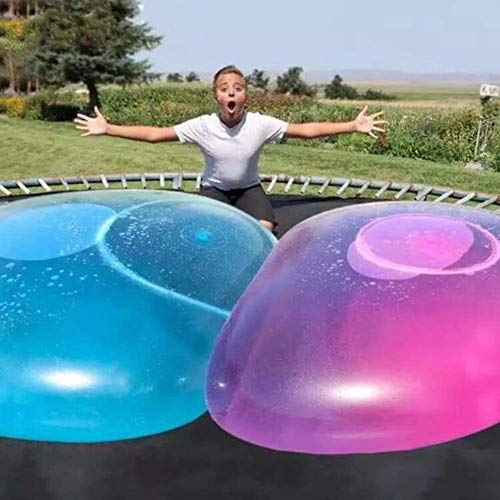 WELLIN 2PCS Water-Filled Interactive Rubber Big Amazing Bubble Balls by BubbleWorld, Big Bubble Ball, Water Filled Ball