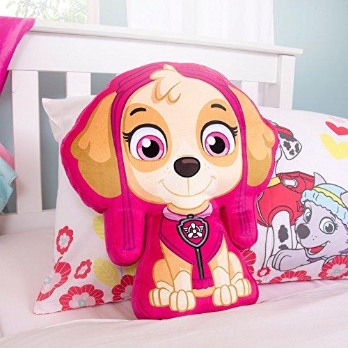 Paw Patrol Offizielles Skye Design Kinder-Kissen, gefülltes Plüsch-Kissen, perfekt für jedes Schlafzimmer oder Kinderzimmer