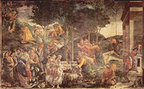 Das Museum Outlet–Sixtinische Kapelle–Die Jugend von Moses Botticelli, gespannte Leinwand Galerie verpackt. 147,3x 198,1cm