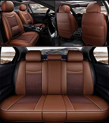 Xypc Four Seasons Universal Car-Matten-Auto-Sitzabdeckung Universal-EIS-Seide Voll Umgeben Kissen, Kompatibel Geeignet for Die Meisten Autos, G-7 (Color : Brown)