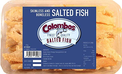 Colombos Finest Quality Skinless & Boneless (Pollock) Salted Fish 250g - Pack of 3
