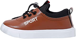 Hopscotch Boys PU Casual Wear Sneakers in Brown Color