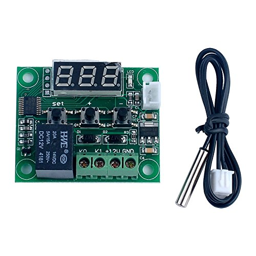 DollaTek -50-110 ° C W1209 DC-12V Digital Mini Thermostat Temperaturregler Bedienschalter-Sensor-Modul
