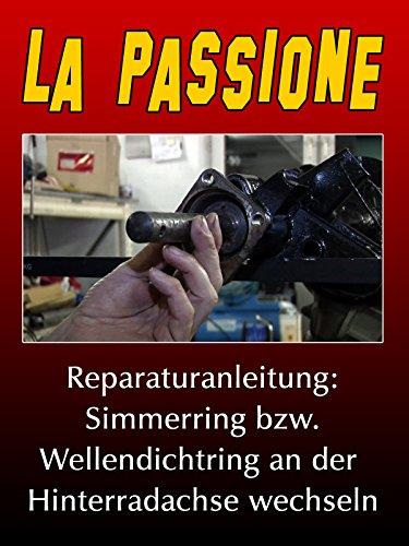 La Passione Reparaturanleitung: Simmerring bzw. Wellendichtring an der Hinterradachse wechseln