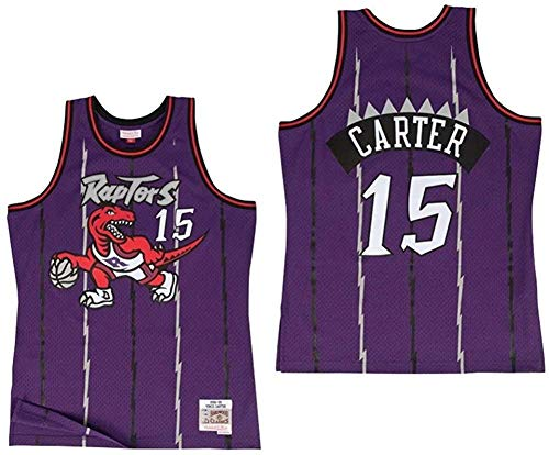 Maglia da Basket Maglia da Basket NBA da Uomo Vince Carter 15# T-Shirt Felpa Ricamata Resistente all'Usura Traspirante + Pantaloncini XS-XXL FHI121IHF-D_XL Evolutions