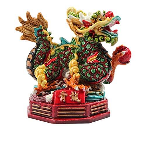 liushop Estatua De Meditación Feng Shui dragón/Feng Shui dragón Escultura Estatua for el Valor Éxito Logro Riqueza y perseverancia Lucky Figurita Decoración de Regalos Feng Shui Interior