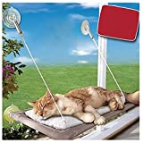 GELing Hamaca para Ventana de Gato, Cama Asiento Colgante con 4 Ventosas Grandes para Tomar la Siesta y Tomar el Sol,como Muestra La Imagen,como Muestra la Imagen