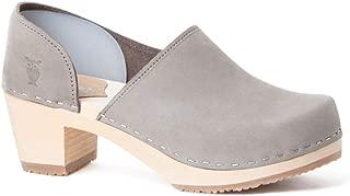 Swedish High Heel Wooden Clogs for Women   Brett