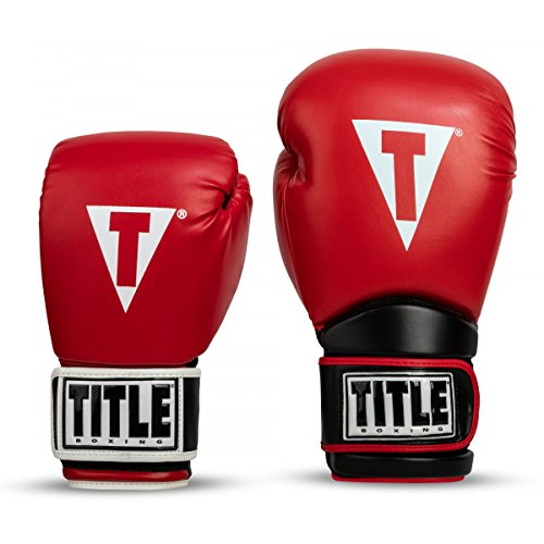 Title Boxing Oversize Safe-T Contact Gloves, Red/Black, 24 oz