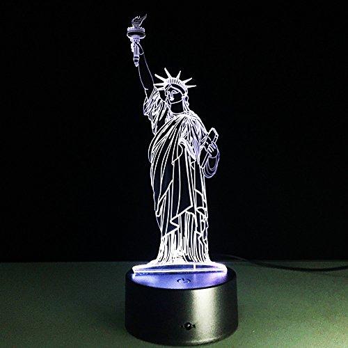 Vrijheidsbeeld 3D-lamp bedlampje, nachtlampje voor de kinderkamer, led-lamp voor de woonkamer perfect cadeau voor kinderen