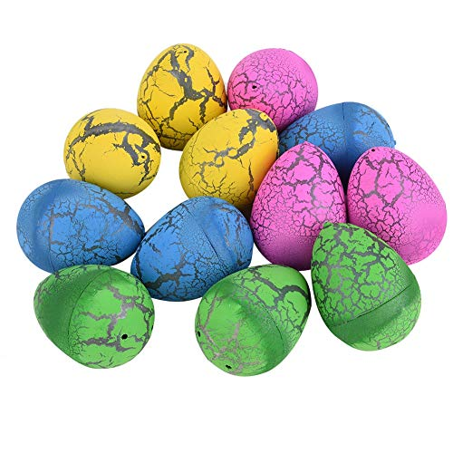 Huevos de Pascua, 12 piezas de huevo de dinosaurio, incubación de agua en crecimiento, juguetes de huevos de Pascua para niños, decoración de Pascua (Edición : B)