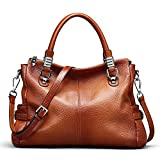 S-ZONE Women Genuine Leather Handbag Shoulder Purse Satchel Tote Crossbody Bag