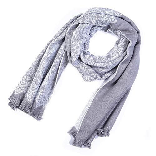 Alvnd dames effen gekleurd patroon kwast deken Maxi-Cosy troddelsjaal - warme zachte deken sjaal heerlijke verpakkingssjaal 65 * 190cm C