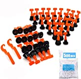 Reusable Tile Leveling System, 100pcs Tile Leveler with 2pcs Special Wrench + 500pcs 2MM Tile Spacers, Tile Leveling Kit Tile Installation Tool for Building Walls Floors