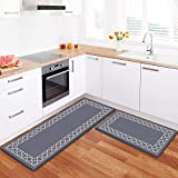 LuxStep Kitchen Mat Set of 2 Anti Fatigue Mat, PVC Non Slip Kitchen Rugs and Mats Waterproof Memory...