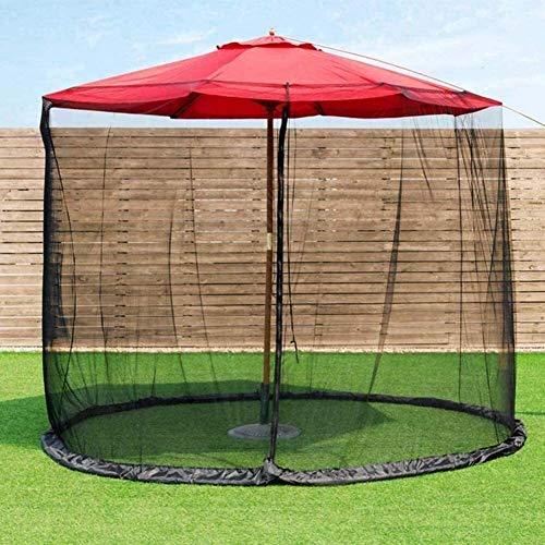 RUINAIER Outdoor Garden Umbrella Your Parasol into a Gazebo Mosquito Netting Polyester Mesh Screen with Zipper Opening