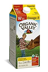 Organic Valley, Organic Omega-3 Whole Milk, Ultra Pasteurized, Half Gallon, 64 Ounces