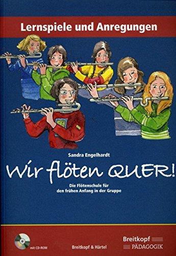 Wir floeten quer 1 - arrangiert für Buch - mit CD-ROM [Noten / Sheetmusic] Komponist: Engelhardt Sandra