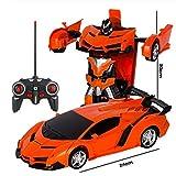 Diseño simple Coches de control remoto, control remoto 2 en 1 coche, coche de control remoto del robot por el alquiler de coches deportivos de acelerar la transformación del robot de juguete de regalo