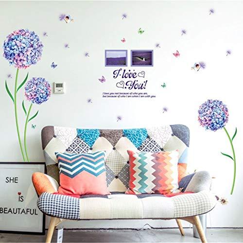 RAILONCH - Adhesivo decorativo para pared, diseño de diente de león en 3D, para habitación de los niños, para salón, dormitorio, cocina o baño