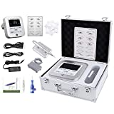 BMX Permanent Makeup Tattoo Machine Kit with Needles for eyebrow lip eyeliner Digital Rotary Tattoo Pen tattoo machine kit With Aluminum Kit Case (CTD003)