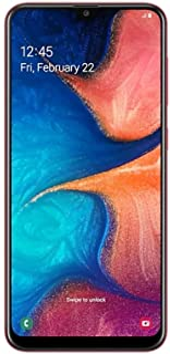 "Samsung Galaxy A20 32GB A205G/DS 6.4"" HD+ 4,000mAh Battery LTE Factory Unlocked GSM Smartphone (International Version, No ..."