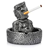 Moai Stone Ashtray, Ashtrays for Weed, Cigar Ashtrays for Men, Cigarettes can be Placed in The Mouth, Handmade Ashtray...