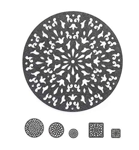luxdag Platzset aus Filz für Teller und große Schüsseln, grau (Farben & Größen wählbar)