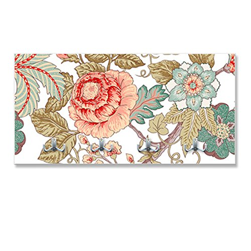 motivX-Ideenwerkstatt Design Wandgarderobe VESTIMA mit Motiv - Blumenranken Jugendstil