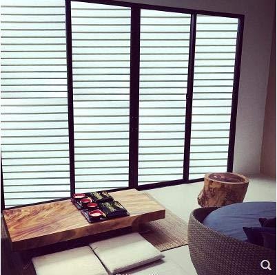 LMKJ Protector Solar de Aislamiento de Vidrio Mate de Ventana de plástico antiestático en baño Pegatinas de Inodoro película de Oficina A36 40x200cm