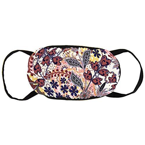 Stofvervuilingsmasker, Naadloos Patroon met Handgetekende Henna, Zwart Oor Pure Katoen masker, Geschikt voor Mannen en Damesmaskers