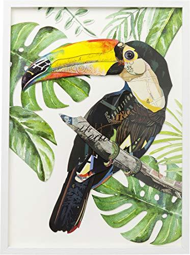 Kare Design Bild Frame Art Paradise Bird Single 70x50cm, Wandbild mit Bilderrahmen, (H/B/T) 70x50x3cm