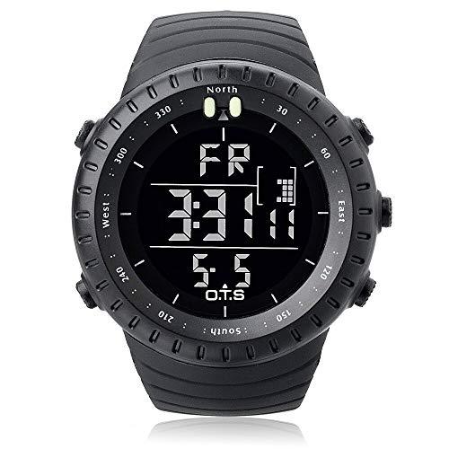 Digitaler Uhr OTS-7005G mit Tages- und Datumsanzeige strategischen Design Schwarz