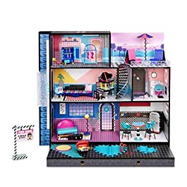 LOL Surprise OMG House – Real Wood Doll House with 85+ Surprises – Incl Chambre à coucher, salle de bains, cuisine…