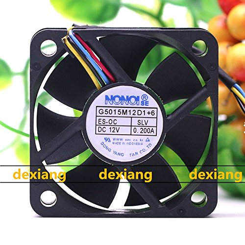 Dexiang For NONOISE G5015M12D1 +6 12V 0.2A Car Stereo 4-wire Cooling Fan