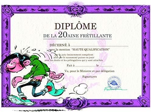Gaston Lagaffe Geburtstagskarte Diplom der 20. Jahre, Laufen, Sport, Laufen, Jogging, Physik, gute Gesundheit