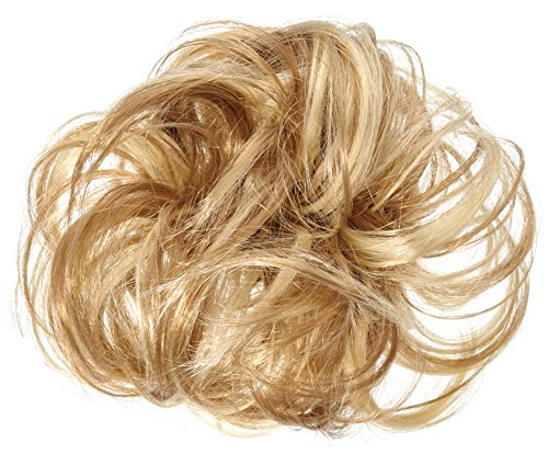 Solida Bel Hair Fashionring Kerstin Kunsthaar, hellblond/ dunkelblond gesträhnt, 1 Stück